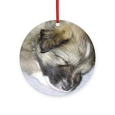 IcelandicSheepdog011 Round Ornament