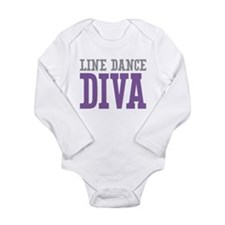 Line Dance DIVA Long Sleeve Infant Bodysuit
