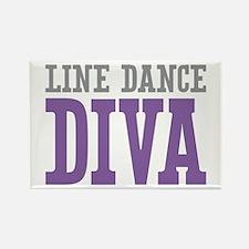 Line Dance DIVA Rectangle Magnet