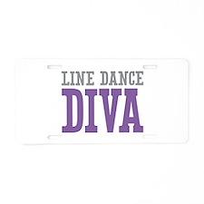 Line Dance DIVA Aluminum License Plate