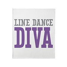 Line Dance DIVA Throw Blanket