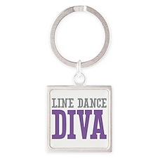 Line Dance DIVA Square Keychain