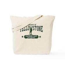 Yellowstone Nat Park Hiker Guy Tote Bag