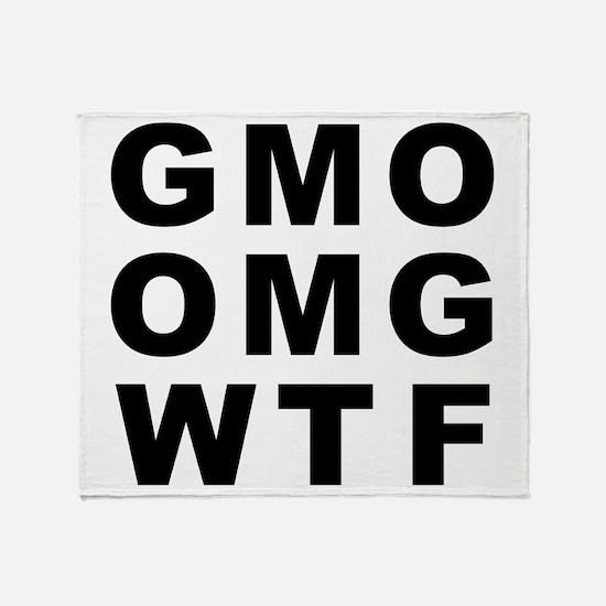 GMO OMG WTF Throw Blanket