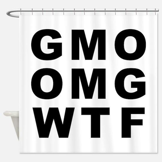 GMO OMG WTF Shower Curtain