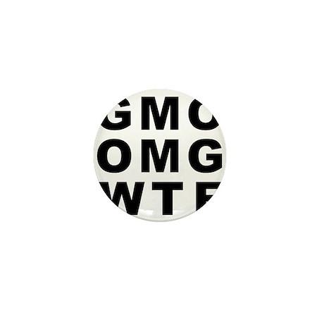 GMO OMG WTF Mini Button (10 pack)