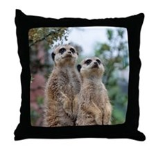 Meerkat013 Throw Pillow