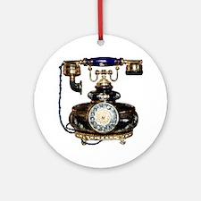 Antique Phone Ornament (Round)