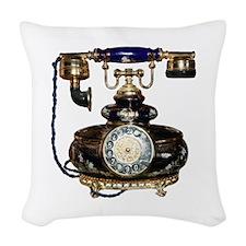 Antique Phone Woven Throw Pillow
