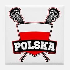 Polska Polish Lacrosse Tile Coaster