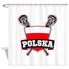 Polska Polish Lacrosse Shower Curtain