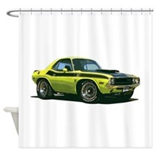 BabyAmericanMuscleCar_70CHLGR_Yellow Shower Curtai