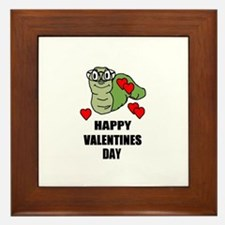 HAPPY VALENTINES DAY BOOKWORM STYLE Framed Tile