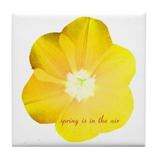 yellow flower Tile Coaster
