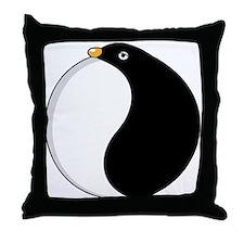 Yin yang penguin Throw Pillow