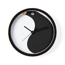 Yin yang penguin Wall Clock