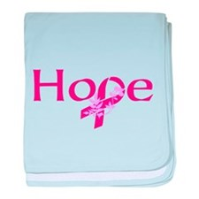 Hope Ribbon baby blanket