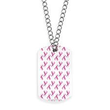 Breast Cancer Pink Ribbon Dog Tags