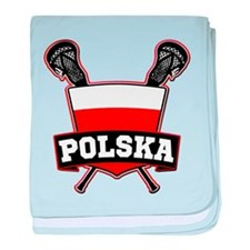 Polska Polish Lacrosse baby blanket