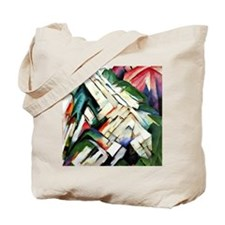 Franz Marc painting: Mountains--Rocky Way Tote Bag