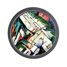 Franz Marc painting: Mountains--Rocky W Wall Clock