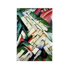 Franz Marc painting: Mountains--R Rectangle Magnet