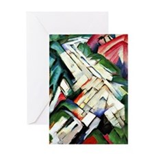 Franz Marc painting: Mountains--Rock Greeting Card