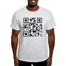 Stop Looking At This Shirt QR T-Shirt