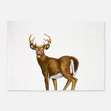 White Tail Deer Buck 5'x7'Area Rug