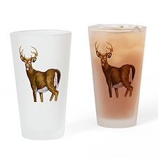 White Tail Deer Buck Drinking Glass