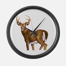 White Tail Deer Buck Large Wall Clock