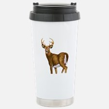 White Tail Deer Buck Stainless Steel Travel Mug