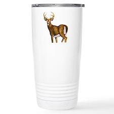 White Tail Deer Buck Travel Coffee Mug