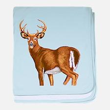 White Tail Deer Buck baby blanket