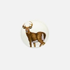White Tail Deer Buck Mini Button (10 pack)
