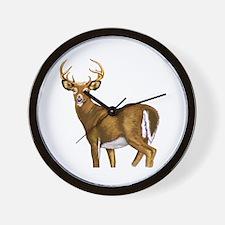 White Tail Deer Buck Wall Clock