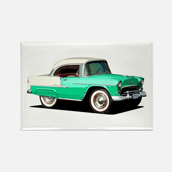 BabyAmericanMuscleCar_55BelR_Xmas_Green Magnets