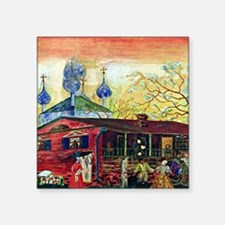 "Shostakovich Museum of Art Square Sticker 3"" x 3"""