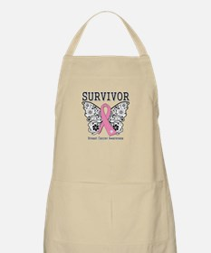 Survivor Butterfly Breast Cancer Apron