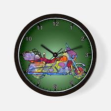 Wild Motorcycle Wall Clock