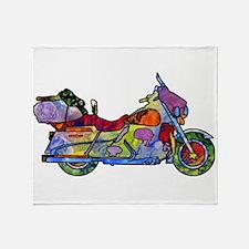Wild Motorcycle Throw Blanket