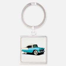 BabyAmericanMuscleCar_55BelR_Skyblue Keychains