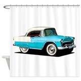 50s car bel air Shower Curtains