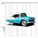 50s car bel air Shower Curtains