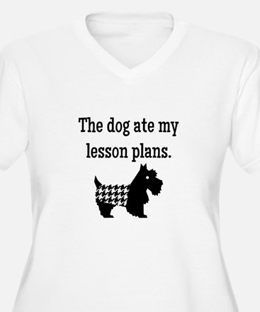 Dog Ate My Lesson Plans Plus Size T-Shirt
