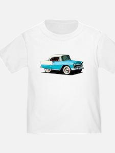 BabyAmericanMuscleCar_55BelR_Skyblue T-Shirt