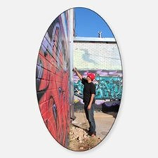graffiti artist Sticker (Oval)