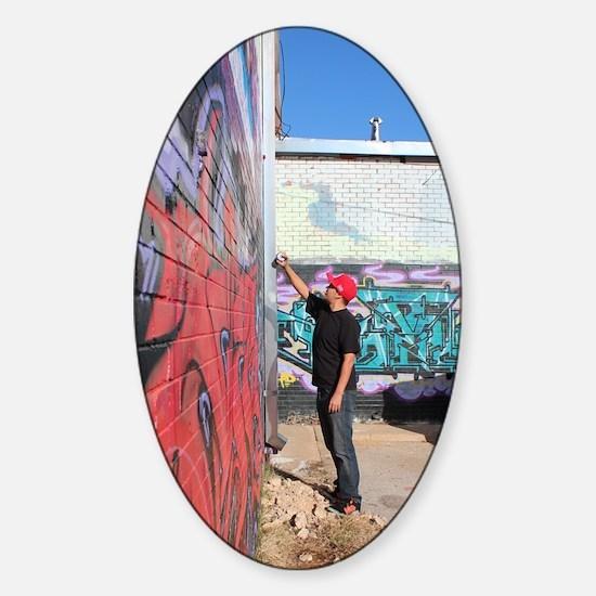 graffiti artist Sticker (Oval)