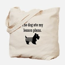 Dog Ate My Lesson Plans Tote Bag