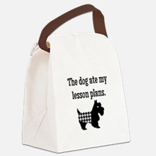 Dog Ate My Lesson Plans Canvas Lunch Bag
